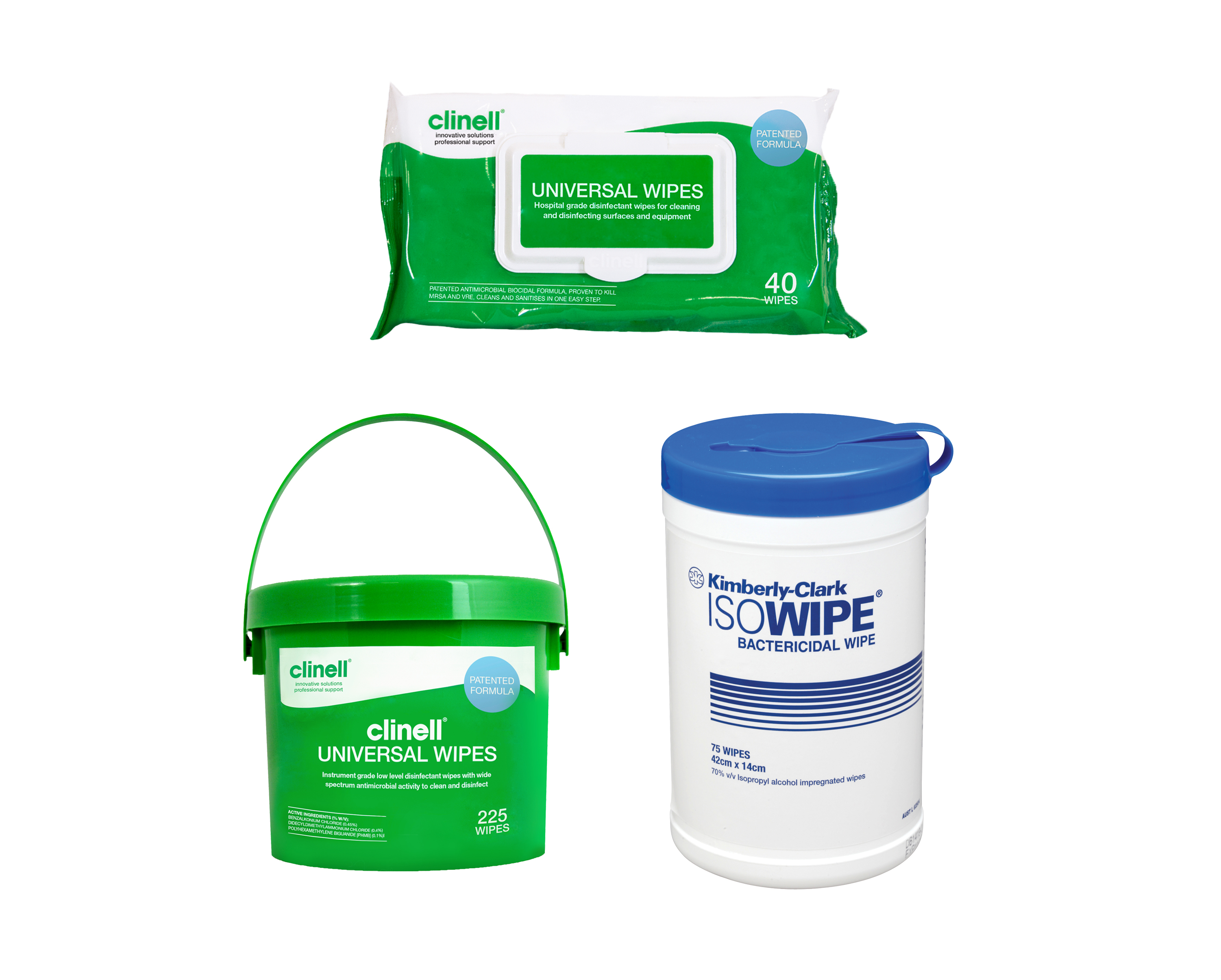 Disinfectant & Detergent Wipes