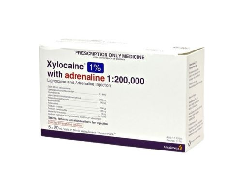 ASTRAZENECA XYLOCLAINE WITH ADRENALINE