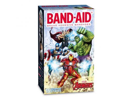 JOHNSON & JOHNSON BAND-AID PLASTIC ADHESIVE STRIPS CHARACTER STRIPS / AVENGERS / BOX OF 10