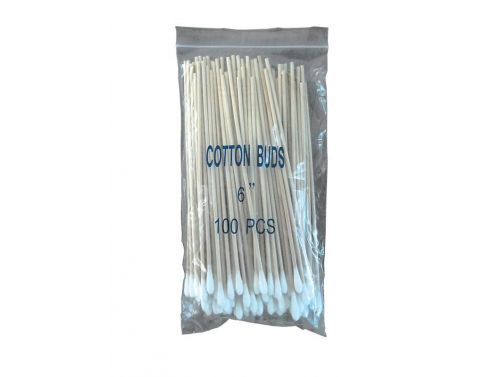 AMTECH COTTON BUDS / SINGLE ENDED WOODEN / NON STERILE 15CM