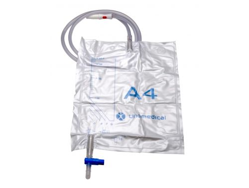 CONVATEC DRAINAGE BAG STERILE A4 CLOSED SYSTEM BAG WITH KOMBIKON / 2000ML