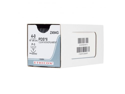 ETHICON PDS II® ABSORBABLE MONOFILAMENT POLYDIOXANONE / 45CM 4-0 19MM 3/8 CIRCLE MP RC / BOX/12