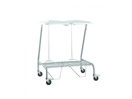 FISHER & WEBSTER DOUBLE WITH FOOT OPERATED LID LINEN SKIP
