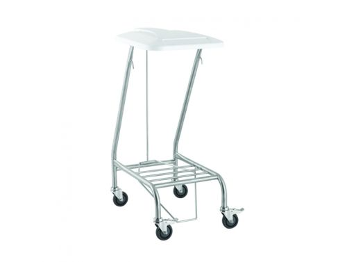 FISHER & WEBSTER SINGLE WITH FOOT OPERATED LID LINEN SKIP