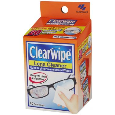 CLEAR WIPES LENS CLEANSER / BOX/20