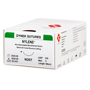DYNEK NYLENE SUTURE NON-ABSORBABLE SYNTHETIC MONOFILAMENT